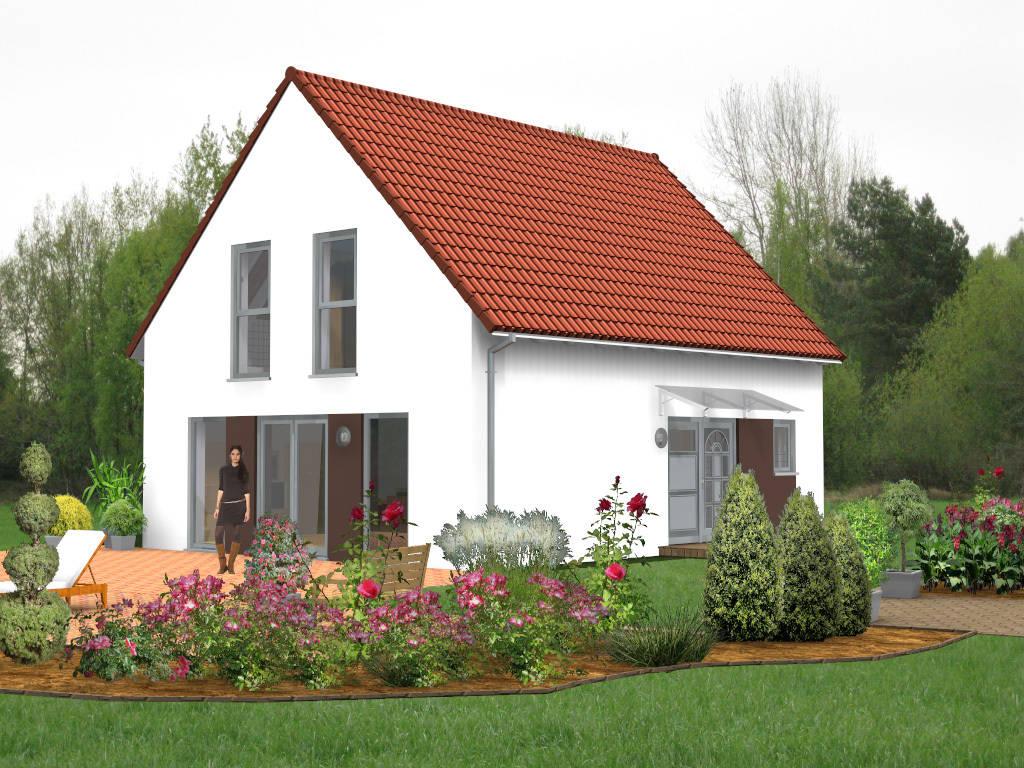 Einfamilienhaus Vordach Glas 104qm