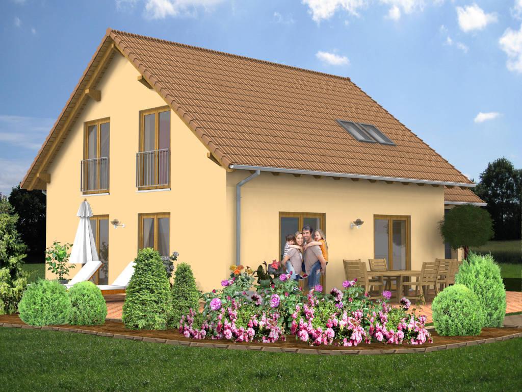 Einfamilienhaus Satteldach Garage 110qm