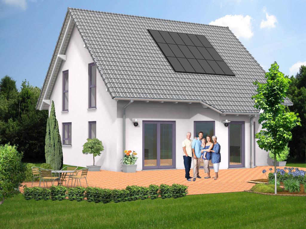 Einfamilienhaus Schleppdach Erker 117qm
