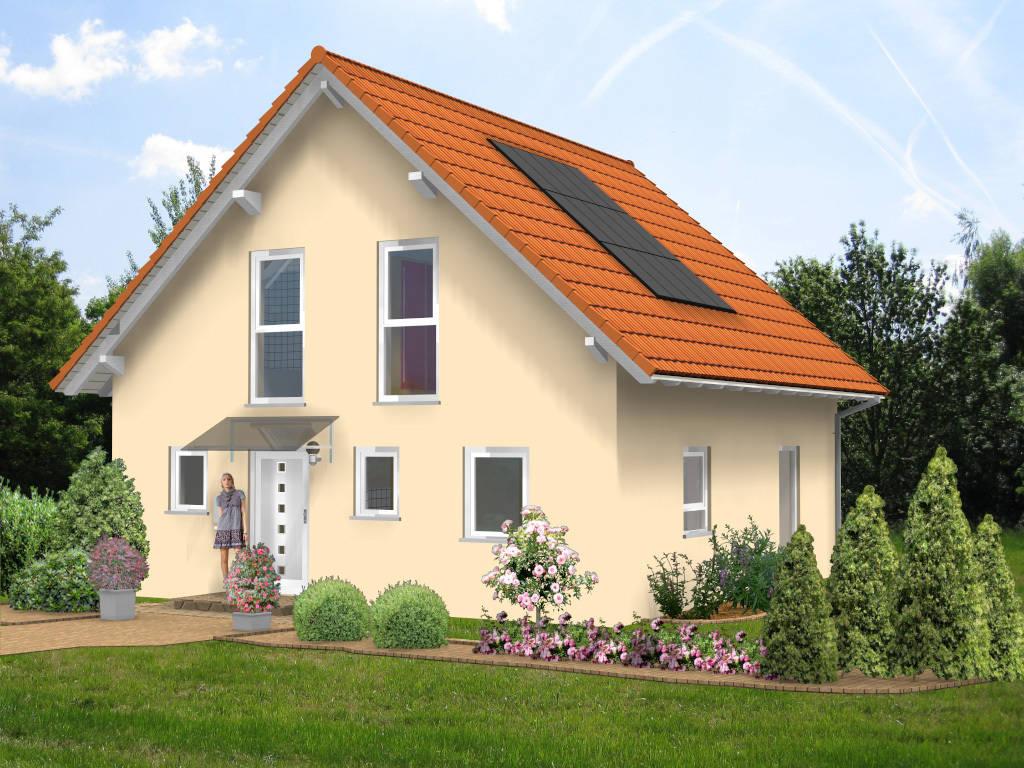 Einfamilienhaus Satteldach mediterran 103qm