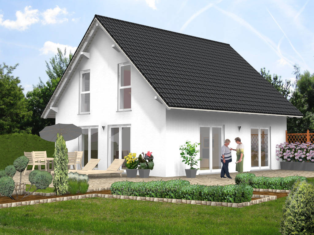 Einfamilienhaus Satteldach Terrassen 103qm