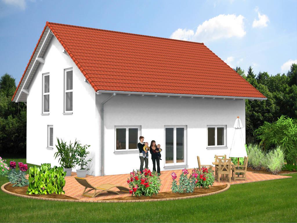 Einfamilienhaus Satteldach offene Kueche 116qm