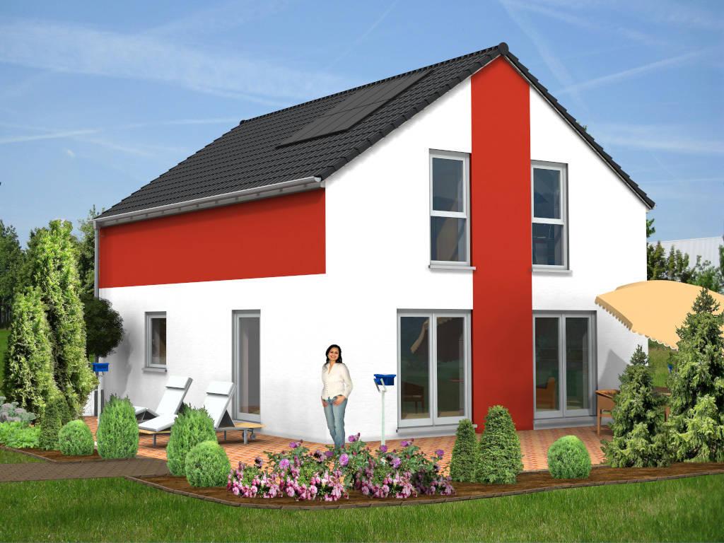 Einfamilienhaus Satteldach Putz 103qm