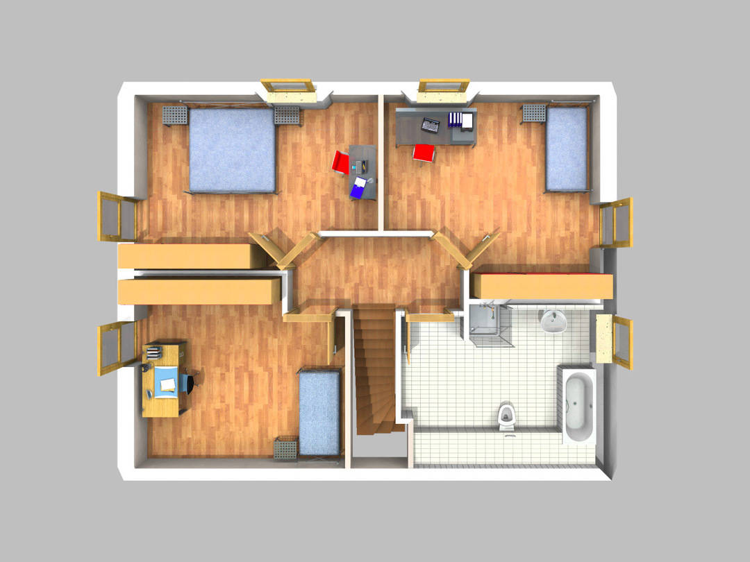 Grundriss DG (3D)