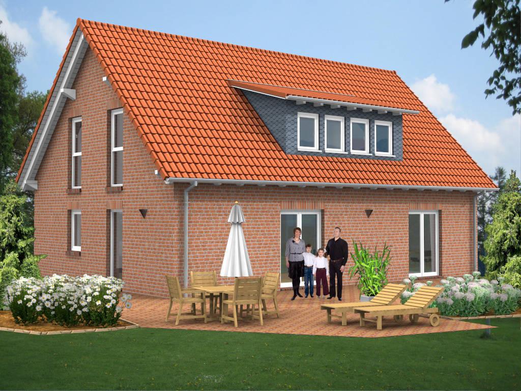 Einfamilienhaus Gaube Klinker 147qm