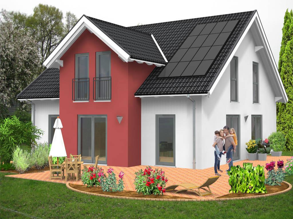 Giebelhaus Massivhaus Familienhaus 148qm