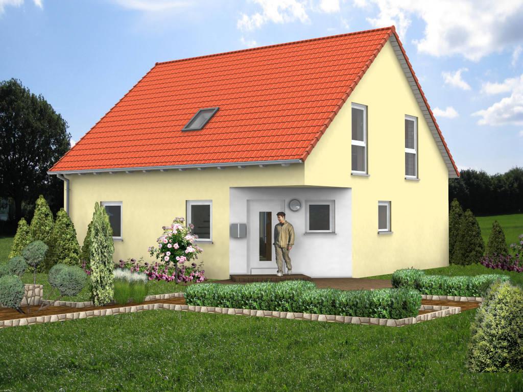 Fertighaus Giebelhaus Massivhaus 121qm