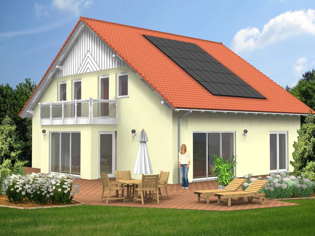Satteldach Holzgiebel Balkon 191qm