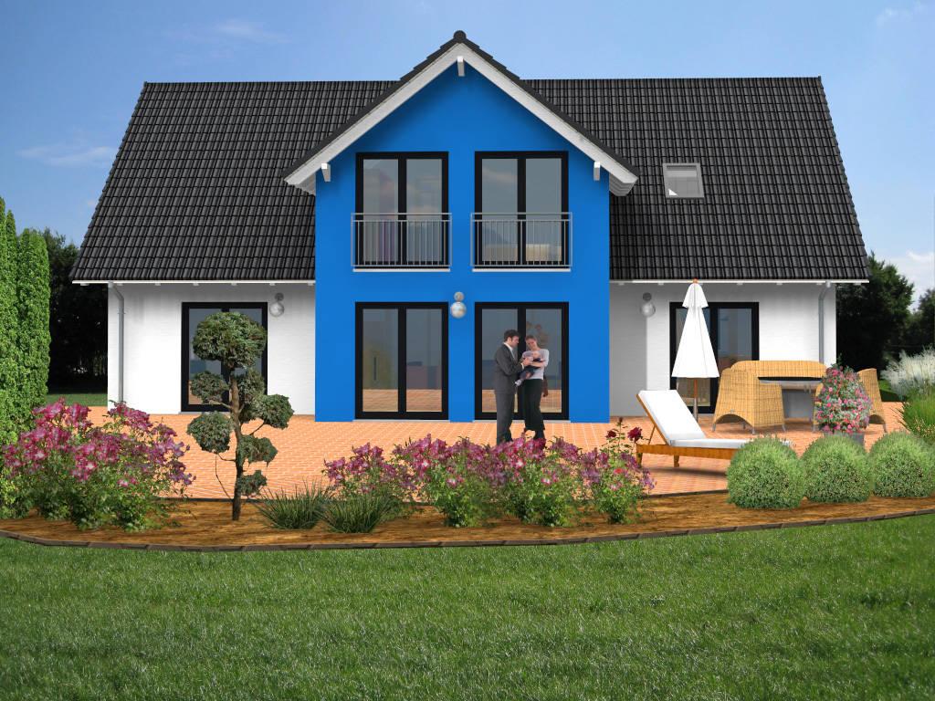 Viergiebelhaus Einfamilienhaus Fertighaus 211qm