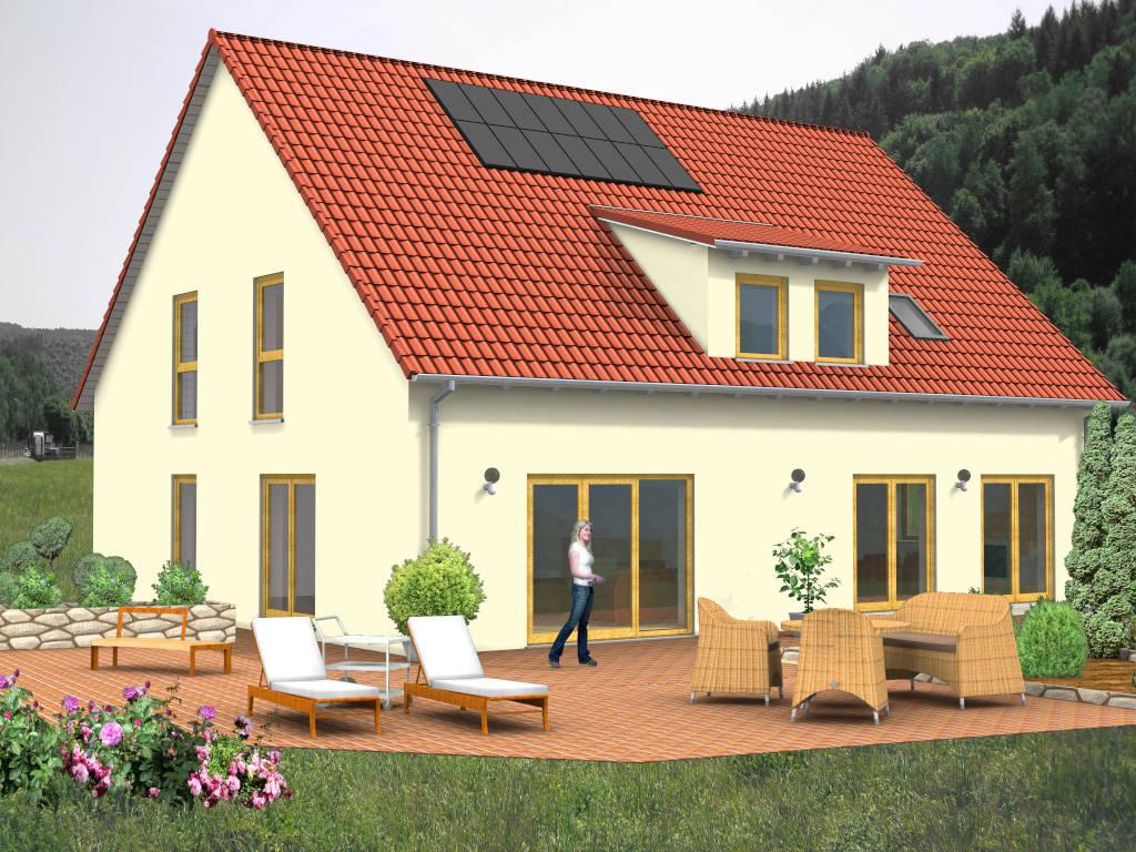 Satteldachhaus Einliegerwohnung Gaube 214qm