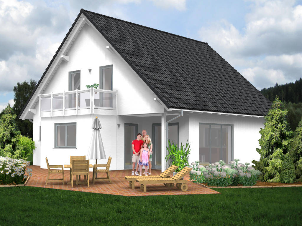 Einfamilienhaus Niedrigenergiehaus Loggia 133qm