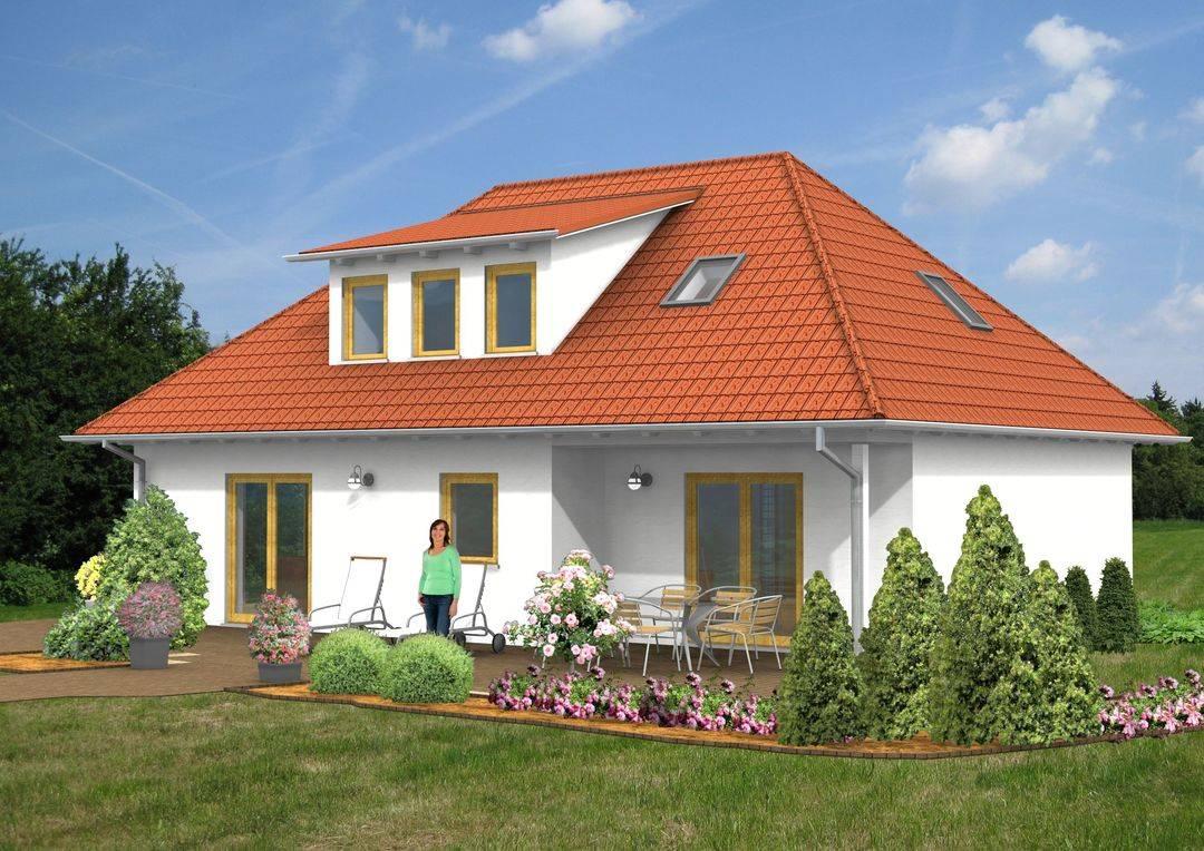 Einfamilienhaus Walmdach Fertighaus 143qm