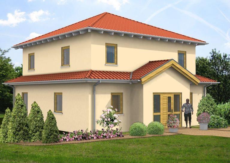 Villa Mittelgiebel Zeltdach 142qm