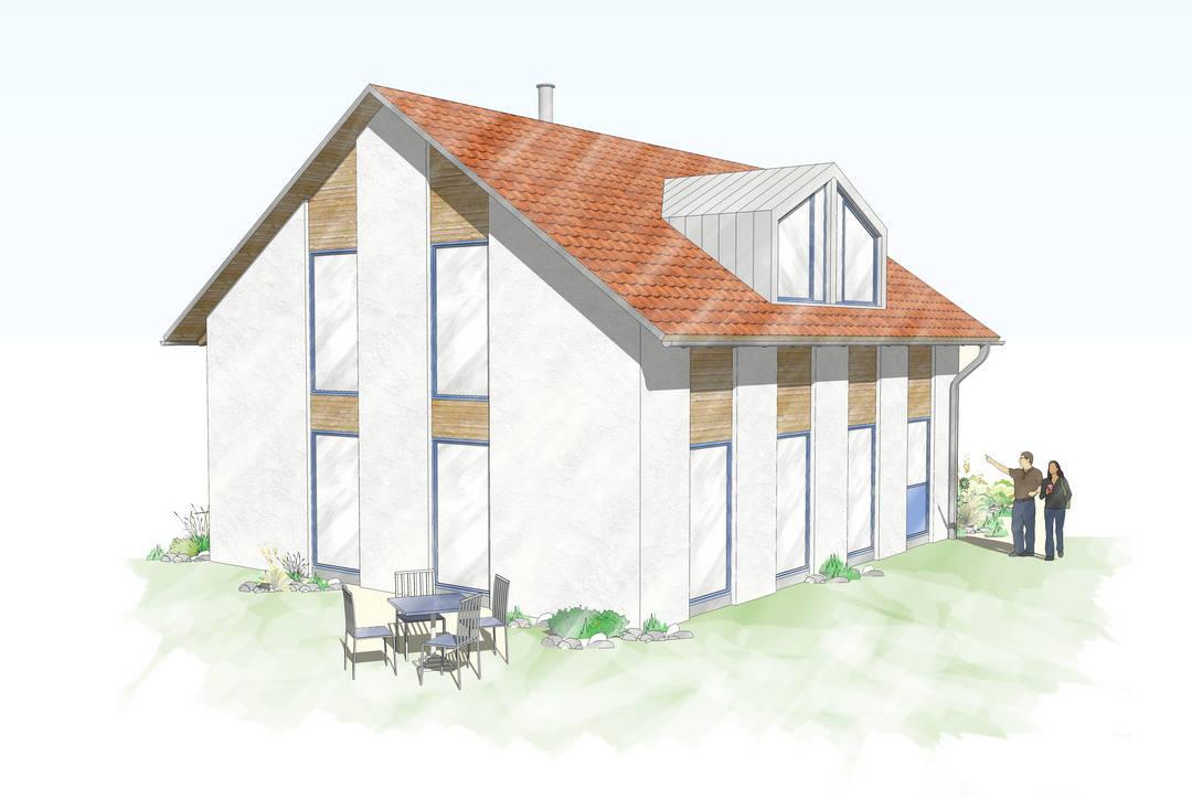 Einfamilienhaus Holzfassade 100qm