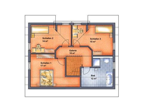 Einfamilienhaus Ummanz - Grundriss OG