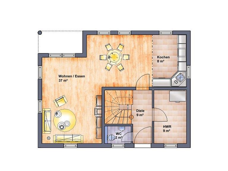 Einfamilienhaus Ummanz - Grundriss EG