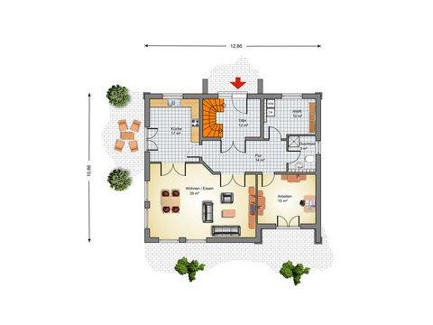 Haus Hamburg Grundriss EG - IBIS Haus
