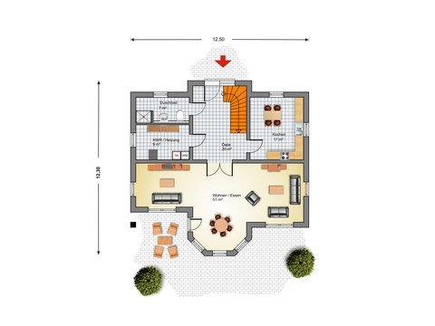 Stadthaus Ribnitz Grundriss EG - IBIS Haus
