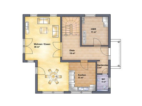 Haus Poel Grundriss EG - IBIS Haus