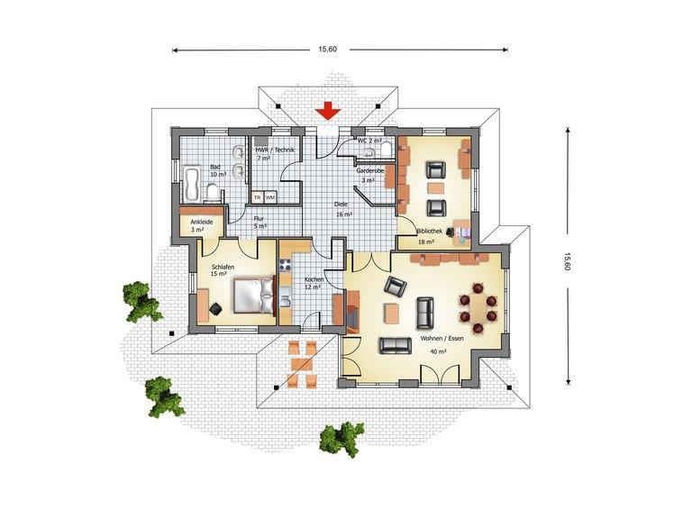 Haus Segeberg Grundriss - IBIS Haus