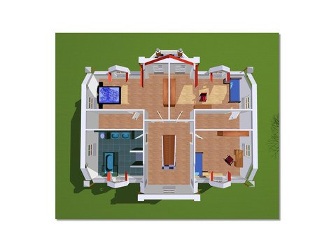 Ramsgate House Grundriss OG - IBIS Haus