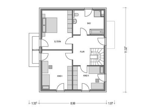 Haus CALVUS SD.200.2 Grundriss DG von Heinz von Heiden