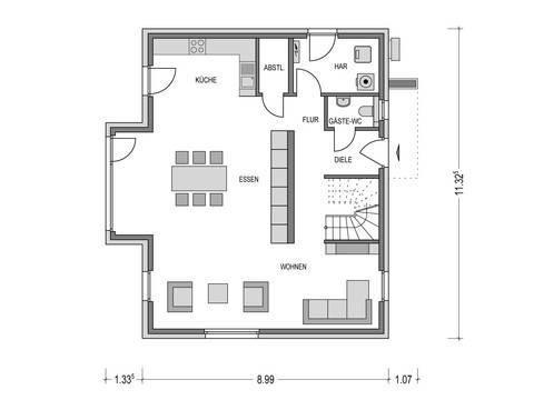 Haus CALVUS SD.200.2 Grundriss EG von Heinz von Heiden