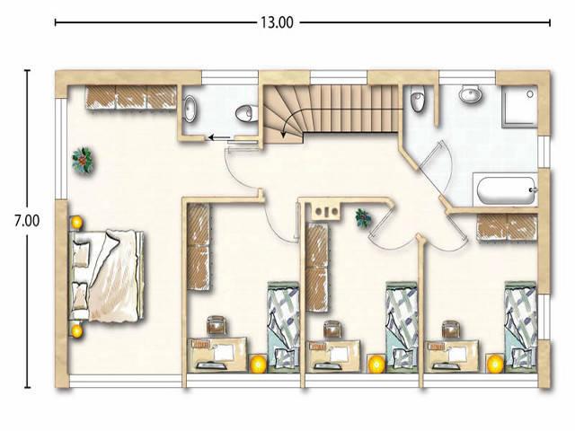 Grundriss Obergeschoss Blankenhorn