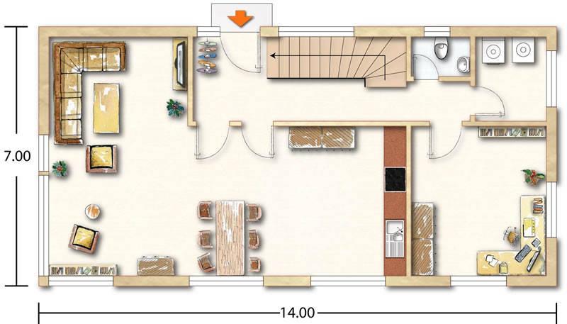 Grundriss Erdgeschoss Blankenhorn