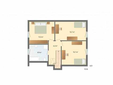 1Liter-Haus Stockholm - Danhaus Grundriss OG