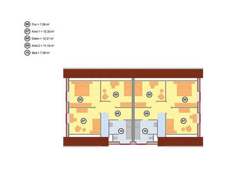 Doppelhaus 123 Baerwolf Bauregie Grundriss Obergeschoss