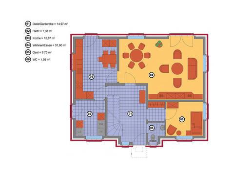 Friesengiebel 154 Baerwolf Baruegie Grundriss Erdgeschoss