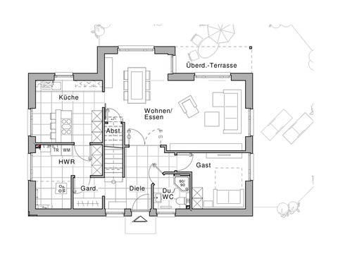 Haus Edition Grundriss EG von Viebrockhaus