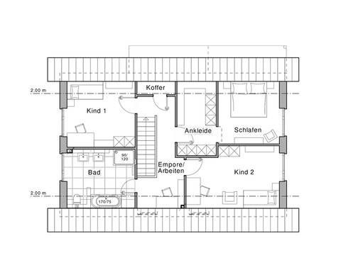 Haus Edition Grundriss OG von Viebrockhaus