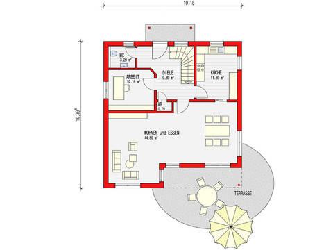 Grundriss Erdgeschoss Toscana 153