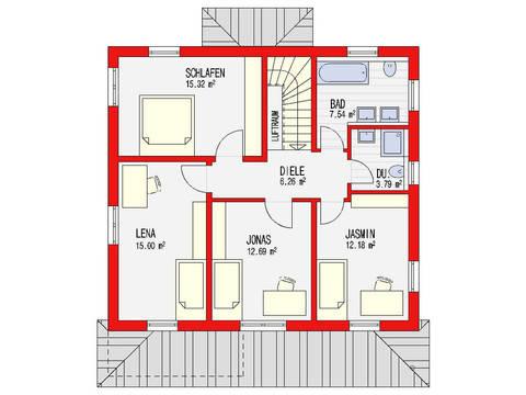 Grundriss Dachgeschoss Toscana 153