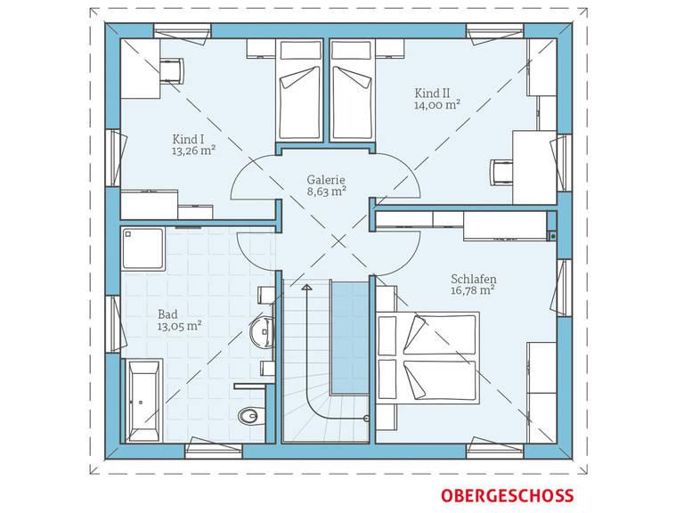 Hanse Haus Villa 134 Grundriss OG