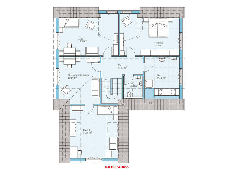 Hanse Haus Variant 275 Grundriss OG