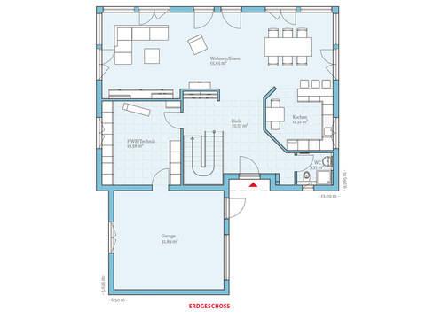 Hanse Haus Variant 275 Grundriss EG