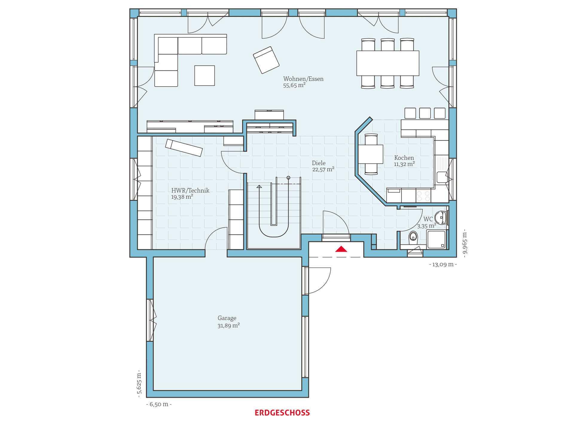 variant 275 hanse haus. Black Bedroom Furniture Sets. Home Design Ideas