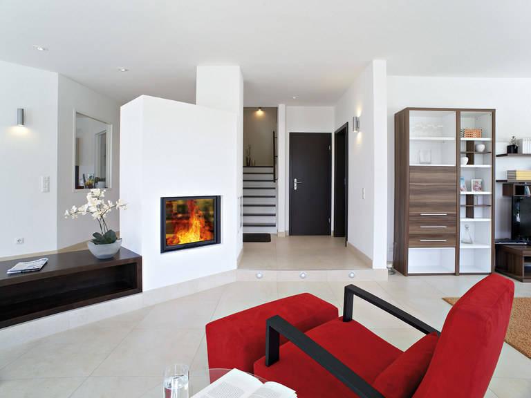 Hanse Haus Variant 275 Wohnzimmer Kamin