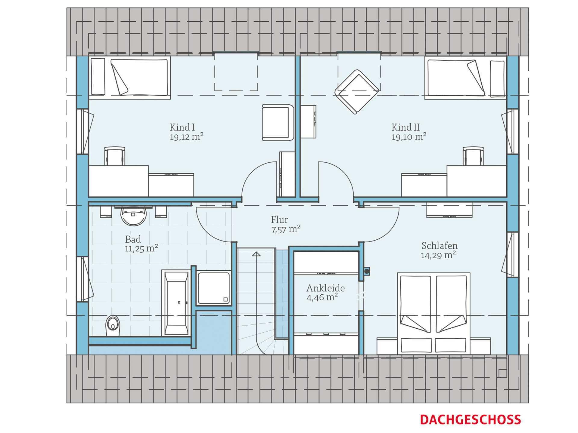 Hanse Haus Variant 45-164 Grundriss OG
