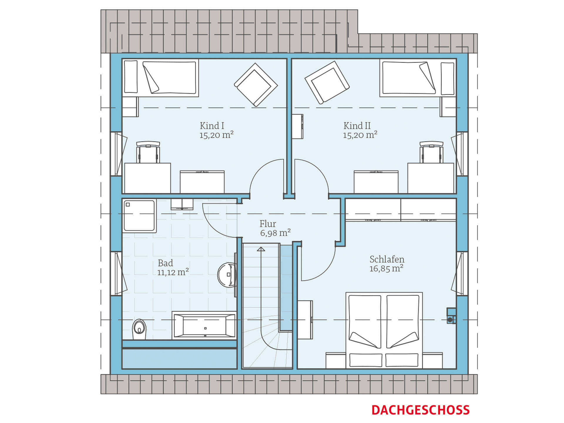 Hanse Haus Variant 35-137 Grundriss OG