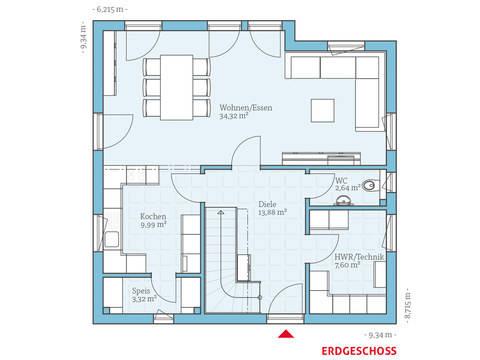 Hanse Haus Variant 35-137 Grundriss EG