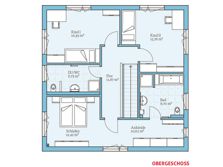 Hanse Haus Cubus 167 Grundriss OG