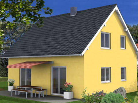 Variantenhaus SD 42 Gartenansicht
