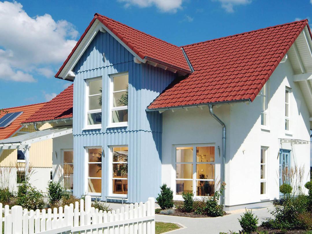 Aussenansicht auf das Holzhaus Vision.