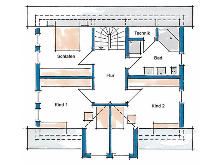 Haus Vision Grundriss Dachgeschoss