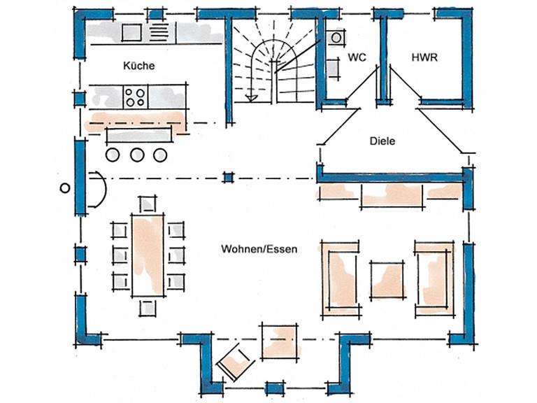Haus Vision Grundriss Erdgeschoss