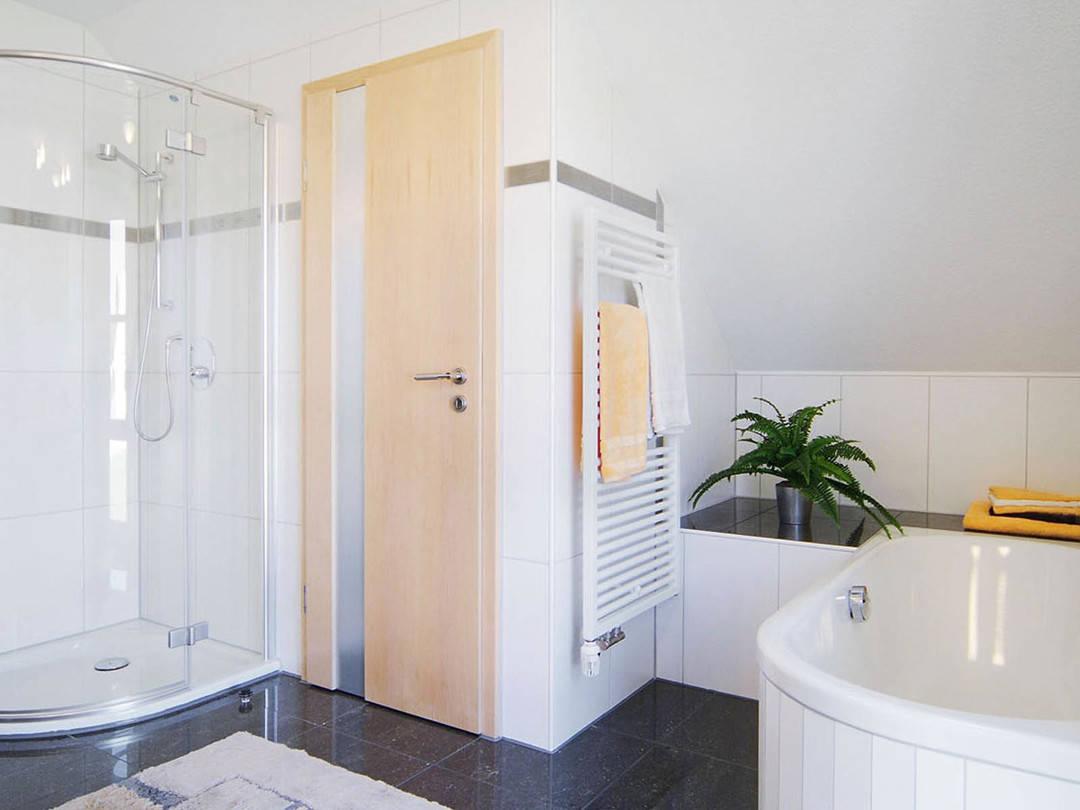 Innenansicht des Badezimmers.